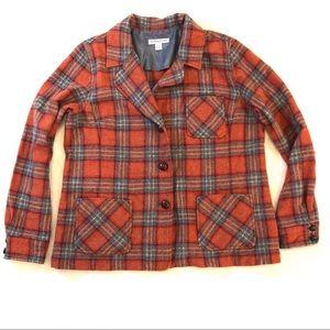 Pendleton Virgin Wool Button Front Plaid Jacket XL